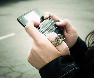 phone, owl, and ring image