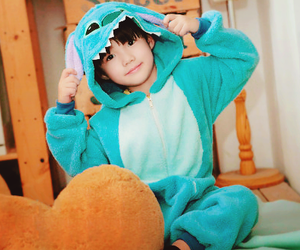 baby, korean, and stich image