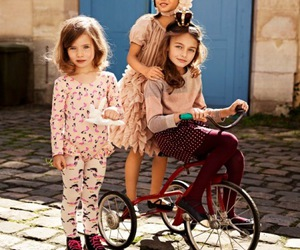 child, girl, and H&M image