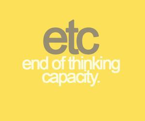 etc, quote, and funny image
