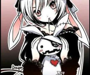 anime, bunny, and vampire image