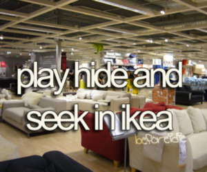 ikea, hide and seek, and play image
