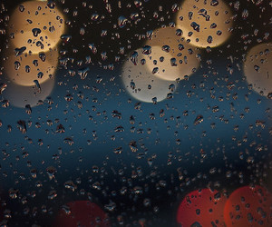 bokeh and rain image