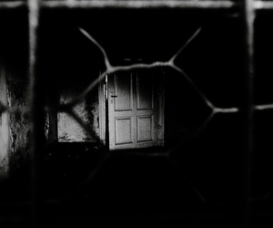 alone, black, and door image