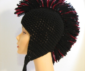 crochet, hat, and mannequin image