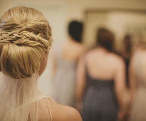 hair, wedding, and blonde image