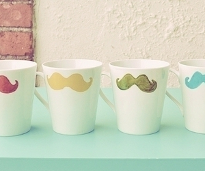 cups and moustache image