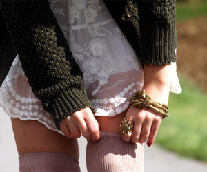 fashion, lace, and cute image