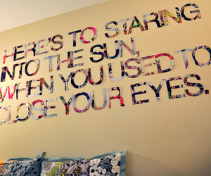 quote, sun, and wall image