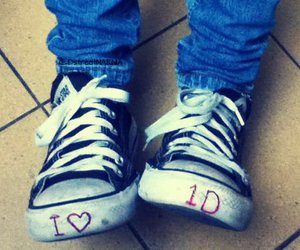 converse, one direction, and love image