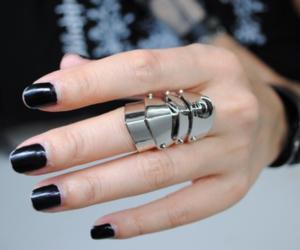 fashion, ring, and nails image
