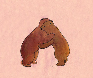 bear, hug, and illustration image