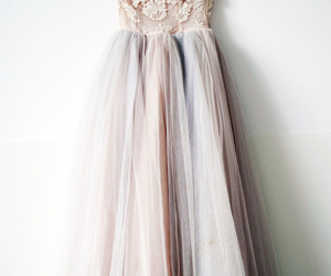 dress, pink, and vintage image