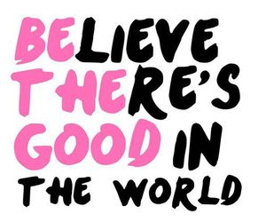 quote, world, and pink image
