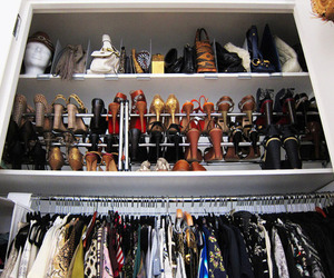 closet, shoes, and fashion image
