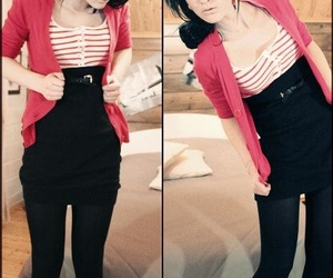 black, fashion, and stripes image