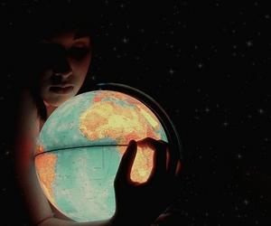 world, light, and globe image