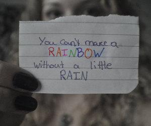 rainbow and rain image