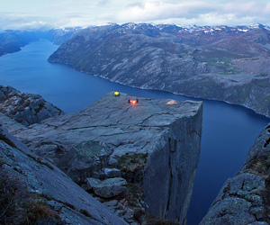 landscape, norway, and lysefjord image