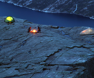 landscape, lysefjorden, and norway image