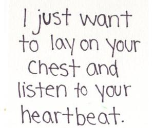 love, quotes, and heartbeat image