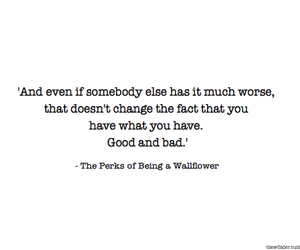 black and white, text, and perks of being a wallflower image
