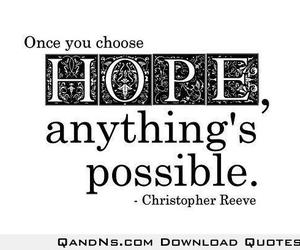 hope, quote, and anything image