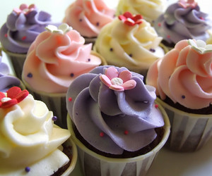 cakes, lilac, and pink image