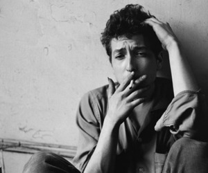 black and white, pretty, and bob dylan image