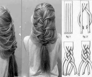 beautiful, braid, and style image