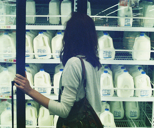 girl and milk image