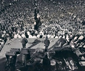 concert, the beatles, and crowd image