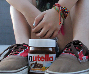nutella, vans, and girl image