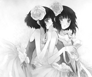 anime, ballerina, and black and white image