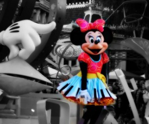 colors, minnie mouse, and disneyland image
