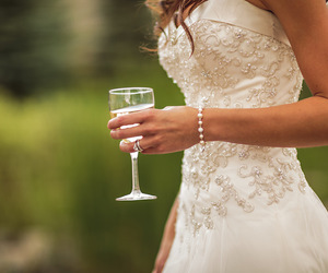 champagne, wedding, and bridals image