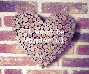 quotes, wood, and love image