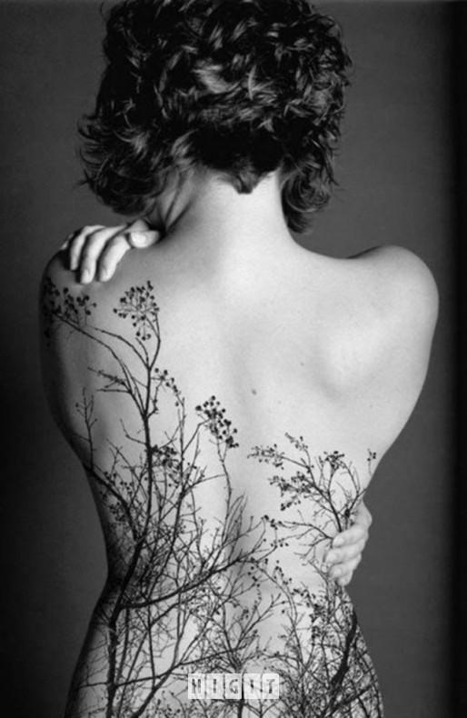 Tatuaże Kobieta Plecy Rośliny Higit On We Heart It