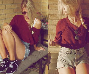 blonde, street, and fashion image