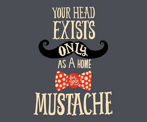 mustache and drawing image