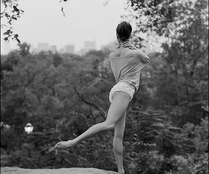 ballerina, ballet, and black & white image