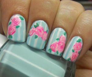 nails and rose image
