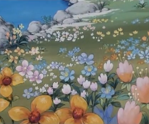 childhood, colors, and flowers image