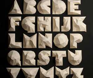 characters, paper art, and font image