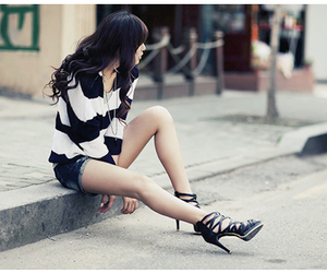 fashion, girl, and heels image