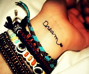 Dream, bracelet, and hand image