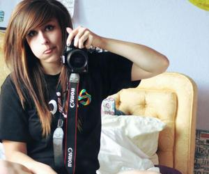 brunette, canon, and girl image