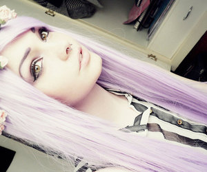 colored hair, pastel hair, and lavender hair image