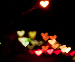 bokeh, colourful, and hearts image