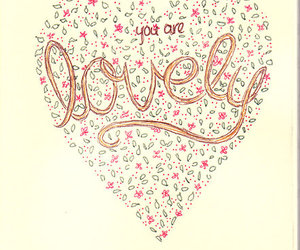 lovely, heart, and you image